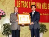 Trao Huy hiệu 55 tuổi đảng cho nguyên Thủ tướng Phan Văn Khải