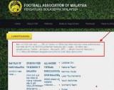Trang web của Liên đoàn bóng đá Malaysia và Việt Nam cùng sập