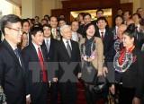 Tổng Bí thư gặp mặt các bí thư chi bộ doanh nghiệp Trung ương tiêu biểu