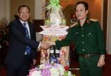 Ông Nguyễn Hữu Từ, Phó Bí thư Tỉnh ủy Bình Dương: Thăm, chúc mừng cán bộ, chiến sĩ Quân khu 7 và Quân đoàn 4