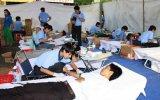 Huyện Phú Giáo: 250 người tham gia hiến máu đợt 5-2014