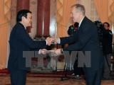 Chủ tịch nước tiếp đại sứ Hoa Kỳ, Panama, Qatar trình quốc thư