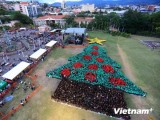 Honduras: Hơn 2.900 người xếp hình cây thông lớn nhất thế giới
