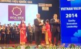 Tập đoàn Hoa Sen đạt Thương hiệu Quốc gia 2014 cho cả 3 dòng sản phẩm