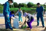 Gần 150 người dọn dẹp vệ sinh các tuyến đường phường Lái Thiêu