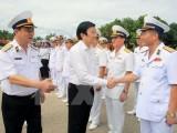 Chủ tịch nước Trương Tấn Sang thăm các đơn vị Hải quân