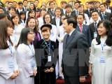 Chủ tịch nước gặp mặt những đại biểu sinh viên tiêu biểu
