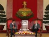 Tổng Bí thư tiếp Đoàn cấp cao Ban Tổ chức TW Đảng Lào