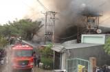 Cháy lớn tại công ty may