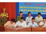 Phú Giáo: Tiểu thương chợ Phước Vĩnh ký cam kết bảo đảm an toàn phòng cháy và chữa cháy