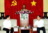Lãnh đạo tỉnh tiếp đồng Chủ tịch Hội đồng Quản trị Công ty liên doanh TNHH Khu công nghiệp Việt Nam - Singapore