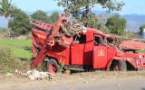 Lật xe cứu hỏa, bảy chiến sĩ bị thương nặng