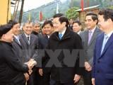 Chủ tịch nước thăm và chúc Tết đồng bào, chiến sỹ Lào Cai