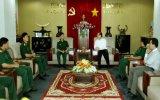 Lãnh đạo Đảng ủy Bộ Tư lệnh Quân đoàn 4 chúc tết lãnh đạo tỉnh