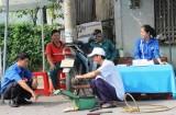 TP.Thủ Dầu Một, Bình Dương: Ra mắt 2 điểm vá xe lưu động miễn phí