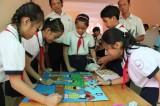 Giao lưu tìm hiểu kỹ năng tham gia giao thông an toàn cấp tiểu học