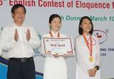 2 học sinh đoạt huy chương vàng cuộc thi hùng biện tiếng Anh