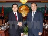 Chủ tịch nước hội đàm với Tổng Bí thư, Chủ tịch nước Lào