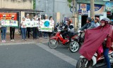 """Đoàn viên, thanh niên Bình Dương: Tuyên truyền thực hiện  """"25 giây tắt máy xe"""" hưởng ứng giờ trái đất 2015"""