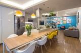 Căn hộ 70 m2 với màu sắc tươi vui