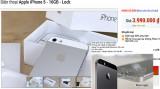 iPhone 5, 5S khoá mạng giá 4 đến 6 triệu đồng tràn về VN