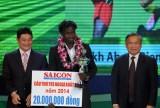Tiền đạo Abass Chiekh Dieng: Lần đầu được vinh danh