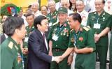 Chủ tịch nước gặp mặt đại biểu Sư đoàn 5 miền Đông Nam bộ