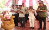 Công an tỉnh: Họp mặt truyền thống tại Khu tưởng niệm căn cứ Bàu Gốc