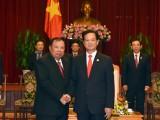 Thủ tướng tiếp Đoàn đại biểu cấp cao Lào, Campuchia, Cuba đến chúc mừng chiến thắng 30-4-1975