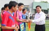 Khai mạc Giải bóng đá mini nam-nữ công nhân viên chức lao động tỉnh năm 2015