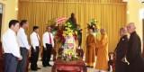 Lãnh đạo tỉnh thăm, chúc mừng lễ Phật đản Ban trị sự Giáo hội Phật giáo Việt Nam tỉnh