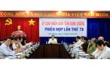 UBND tỉnh thông qua các nội dung trình kỳ họp thứ 16 - HĐND tỉnh khóa VIII