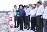 Ông Trần Văn Nam, Chủ tịch UBND tỉnh:  Cần khắc phục triệt để tình trạng hư hỏng bờ kênh Ba Bò