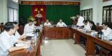Đồng chí Nguyễn Hữu Từ, Phó Bí thư Tỉnh ủy: Kiểm tra công tác chuẩn bị Đại hội Đảng bộ huyện Dầu Tiếng