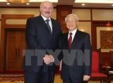Tổng Bí thư Nguyễn Phú Trọng tiếp Tổng thống Belarus Lukashenko