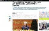 Hãng thông tấn quốc gia Argentina đưa tin về Đại hội XII