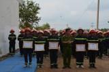 Cảnh sát PC&CC tỉnh: Bế giảng khóa huấn luyện nghiệp vụ cho chiến sĩ phục vụ có thời hạn