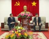 Lãnh đạo tỉnh tiếp Tổng lãnh sự Lào tại thành phố Hồ Chí Minh