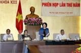 Hội đồng bầu cử quốc gia tiến hành phiên họp toàn thể thứ năm