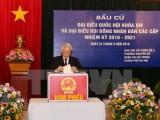 Tổng Bí thư bỏ phiếu bầu cử tại quận Hai Bà Trưng, Hà Nội