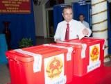 Lãnh đạo tỉnh tham gia bầu cử tại phường Lái Thiêu, TX.Thuận An và phường Phú Cường, TP.Thủ Dầu Một