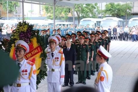 Lãnh đạo cấp cao dự Lễ viếng 9 quân nhân phi hành đoàn CASA-212