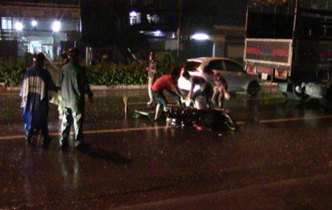 Tai nạn trong cơn mưa, một người tử vong