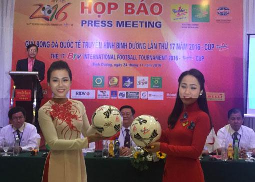 Giải bóng đá quốc tế BTV Number One Cup 2016: Becamex Bình Dương gặp Boeung Ket Angkor trận khai mạc
