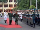 Đoàn đại biểu quân sự cấp cao nước CHDCND Lào thăm Việt Nam