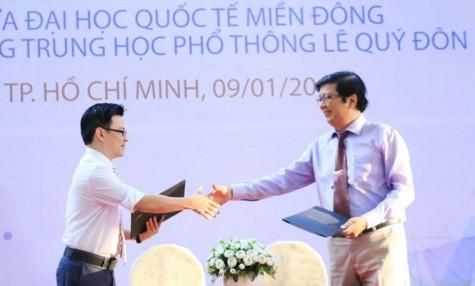 东方国际大学与黎贵惇高中学校联合发展培养科技人才