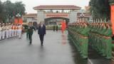 越南国家主席陈大光春节前走访慰问第四军区司令部拜年