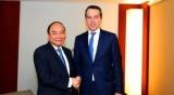 越南政府总理阮春福会见奥地利总理克里斯蒂昂•克恩