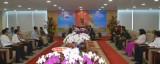 Lãnh đạo tỉnh tiếp đoàn lãnh đạo tỉnh Kratie, vương quốc Campuchia