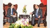 越南政府总理阮春福会见日本贸易振兴机构驻越首席代表川田